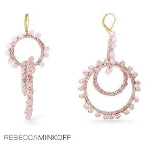 Rebecca Minkoff Tread Wrapped Hoop Earrings